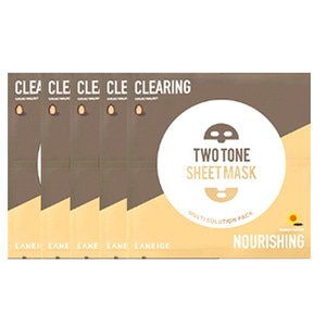 LANEIGE Two Tone Sheet Mask Clearing & Nourishing 28ml 5ea