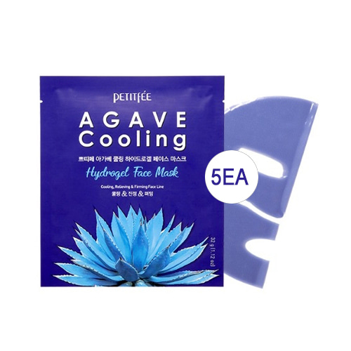 [MD] Petitfee Agave Cooling Hydrogel Face Mask 5ea
