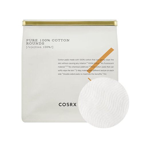 COSRX Pure 100% Cotton Rounds 80 pads